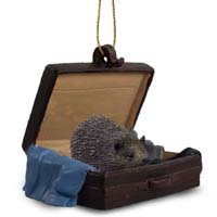 Hedgehog Traveling Companion Ornament