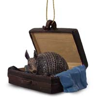 Armadillo Traveling Companion Ornament