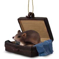 Mouse Traveling Companion Ornament