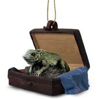 Iguana Traveling Companion Ornament