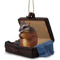 Chipmunk Traveling Companion Ornament