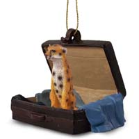 Cheetah Traveling Companion Ornament