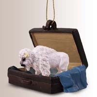 Buffalo White Traveling Companion Ornament