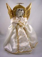 Pekingese Angel Tree Topper