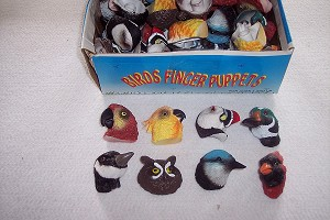 1 lot of 72 Bird Polynate (Unbreakable) Finger Puppets
