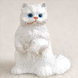 White Persian Tiny One Figurine