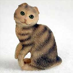 Brown Tabby Scottish Fold Tiny One Figurine