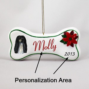 Afghan Black & White Bone Ornament (Personalize-It-Yourself)