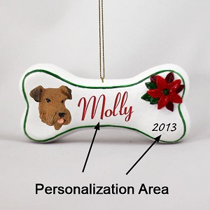 Airedale Bone Ornament (Personalize-It-Yourself)