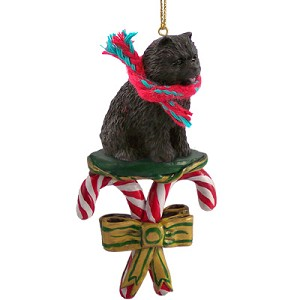 Chow Black Candy Cane Ornament