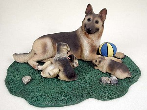 German Shepherd Tan & Black Mom & Pups