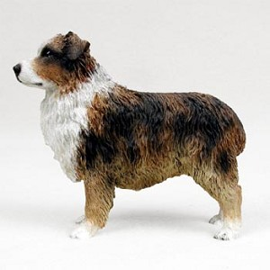 Australian Shepherd Brown w/Docked Tail Standard Figurine