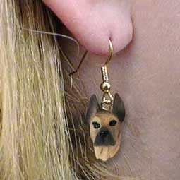 Great Dane Fawn Earrings Hanging
