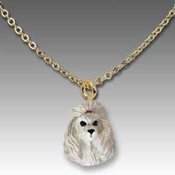 Poodle Gray Tiny One Pendant