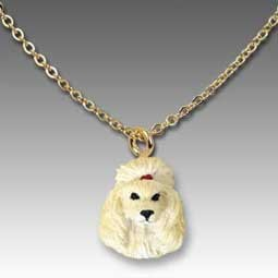 Poodle Apricot Tiny One Pendant