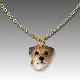 Border Terrier Tiny One Pendant