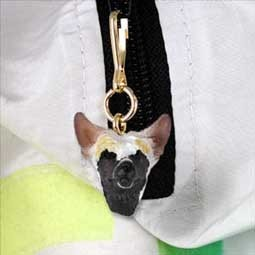 Chinese Crested Dog Zipper Charm