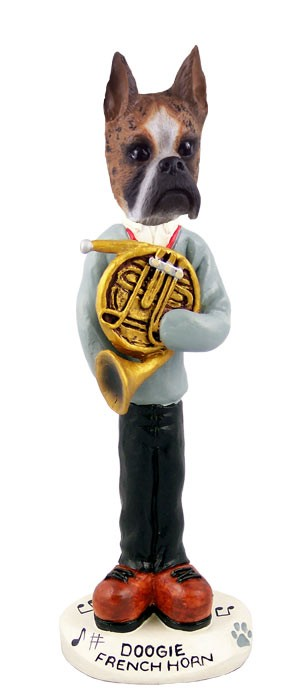 Boxer Brindle French Horn Doogie Collectable Figurine