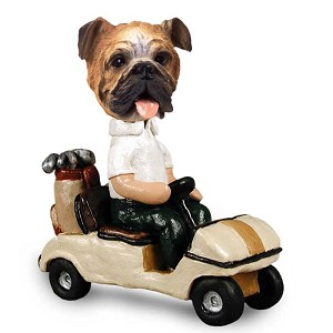 Bulldog Golf Cart Doogie Collectable Figurine