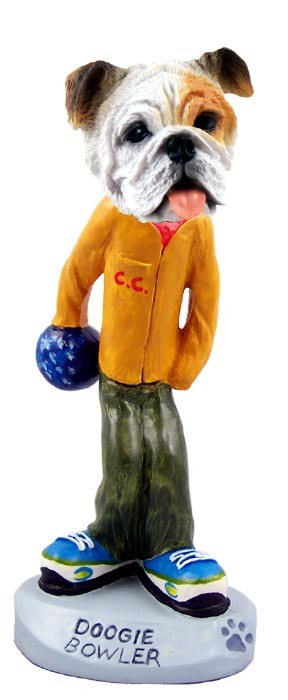 Bulldog White Bowler Doogie Collectable Figurine