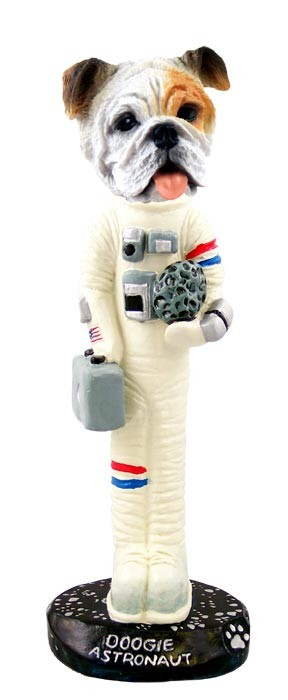 Bulldog White Astronaut Doogie Collectable Figurine