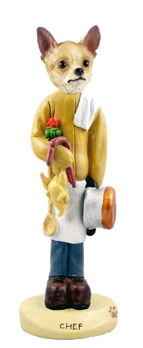 Chihuahua Tan/White Chef Doogie Collectable Figurine