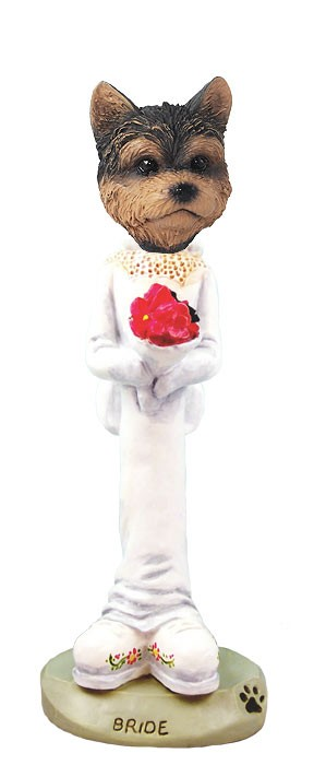 Yorkshire Terrier Puppy Cut Bride Doogie Collectable Figurine