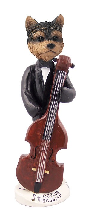 Yorkshire Terrier Puppy Cut Bassist Doogie Collectable Figurine