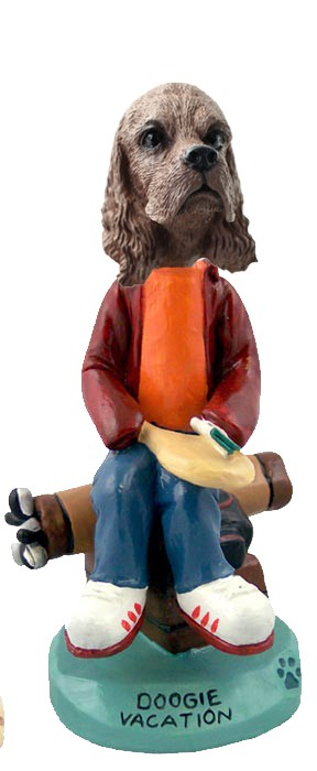 Cocker Spaniel Brown Vacation Doogie Collectable Figurine
