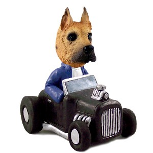 Great Dane Fawn Hot Rod Doogie Collectable Figurine