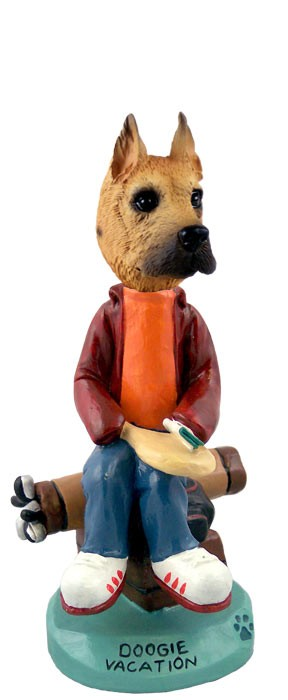 Great Dane Fawn Vacation Doogie Collectable Figurine