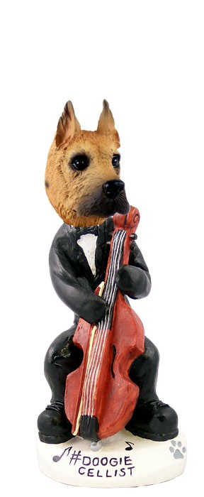 Great Dane Fawn Cellist Doogie Collectable Figurine