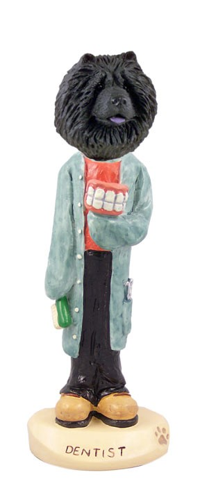 Chow Black Dentist Doogie Collectable Figurine