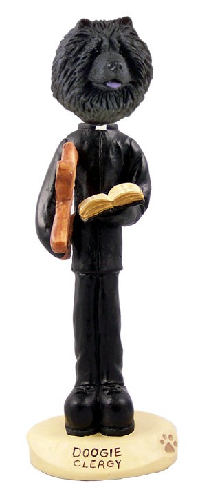 Chow Black Clergy Doogie Collectable Figurine