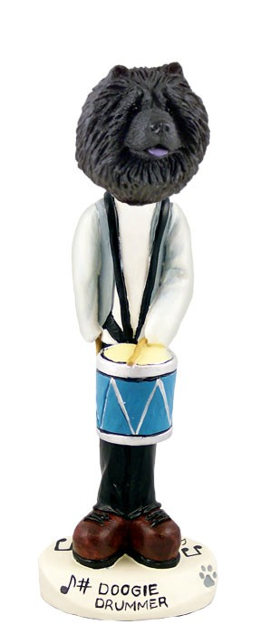 Chow Black Drummer Doogie Collectable Figurine