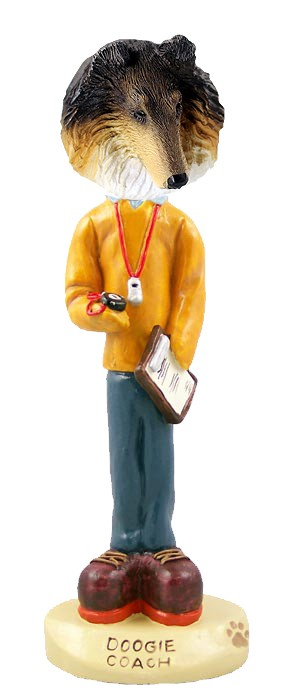 Collie Tricolor Coach Doogie Collectable Figurine