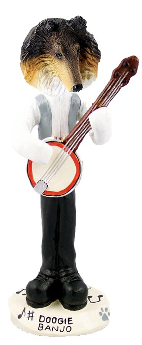 Collie Tricolor Banjo Doogie Collectable Figurine