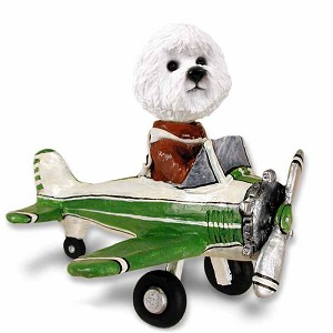 Bichon Frise Airplane Doogie Collectable Figurine
