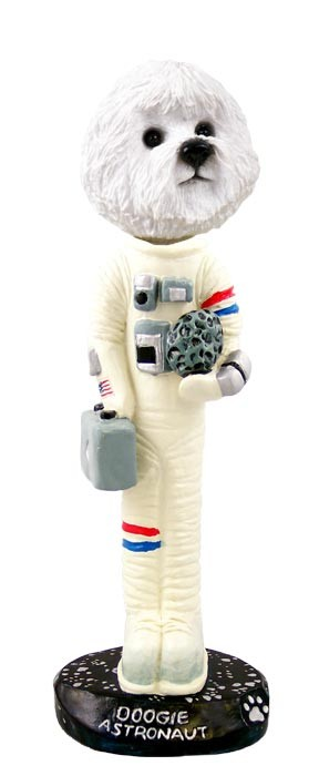 Bichon Frise Astronaut Doogie Collectable Figurine