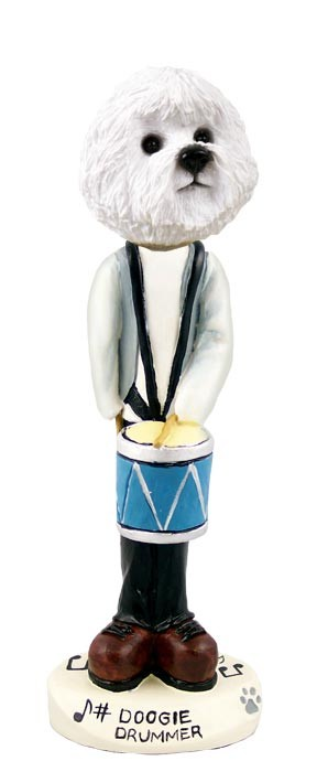 Bichon Frise Drummer Doogie Collectable Figurine
