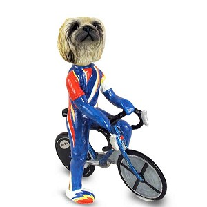 Pekingese Bicycle Doogie Collectable Figurine