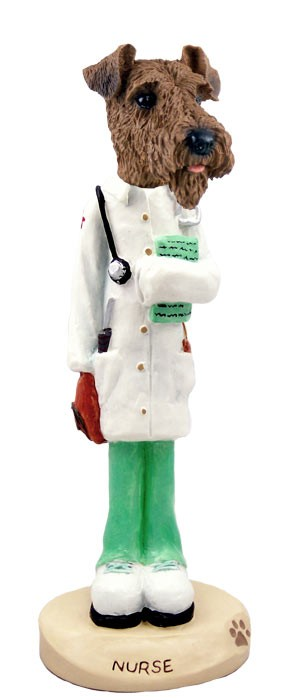 Airedale Nurse Doogie Collectable Figurine