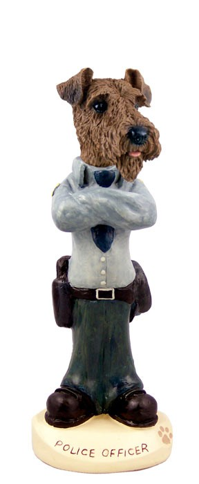 Airedale Police Doogie Collectable Figurine