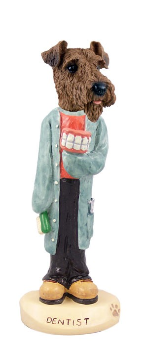 Airedale Dentist Doogie Collectable Figurine