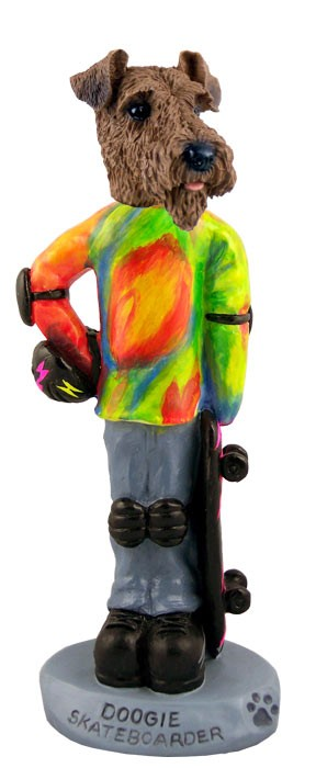 Airedale Skateboarder Doogie Collectable Figurine