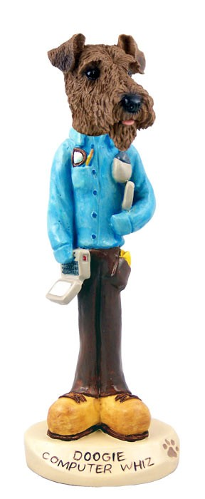 Airedale Computer Whiz Doogie Collectable Figurine