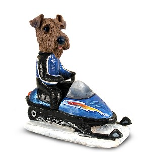 Airedale Snowmobile Doogie Collectable Figurine