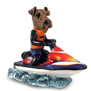 Airedale Jet Ski Doogie Collectable Figurine