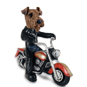 Airedale Motorcycle Doogie Collectable Figurine