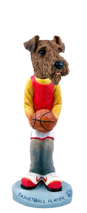 Airedale Basketball Doogie Collectable Figurine